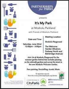 Summer Garden Festival @ Mosholu Playground